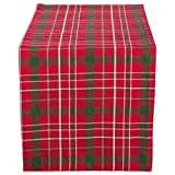 DII Tartan Holy Plaid 100% Cotton Table Runner, Machine Washable for Holiday Gatherings, Dinner Parties, & Christmas (14x108')