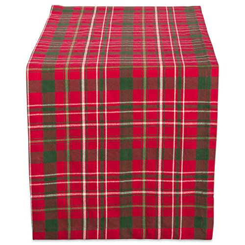 DII Tartan Holy Plaid 100% Cotton Table Runner, Machine Washable for Holiday Gatherings, Dinner Parties, & Christmas (14x72')