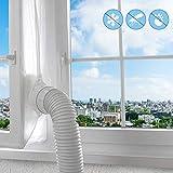 Aislamiento de Ventanas para Aire Acondicionado Móvil y Secadora, Adecuado para Unidad de Aire Acondicionado Portátil, Parada de Aire Caliente Fácil Instalación Evita La Entrada de Mosquitos(400CM)