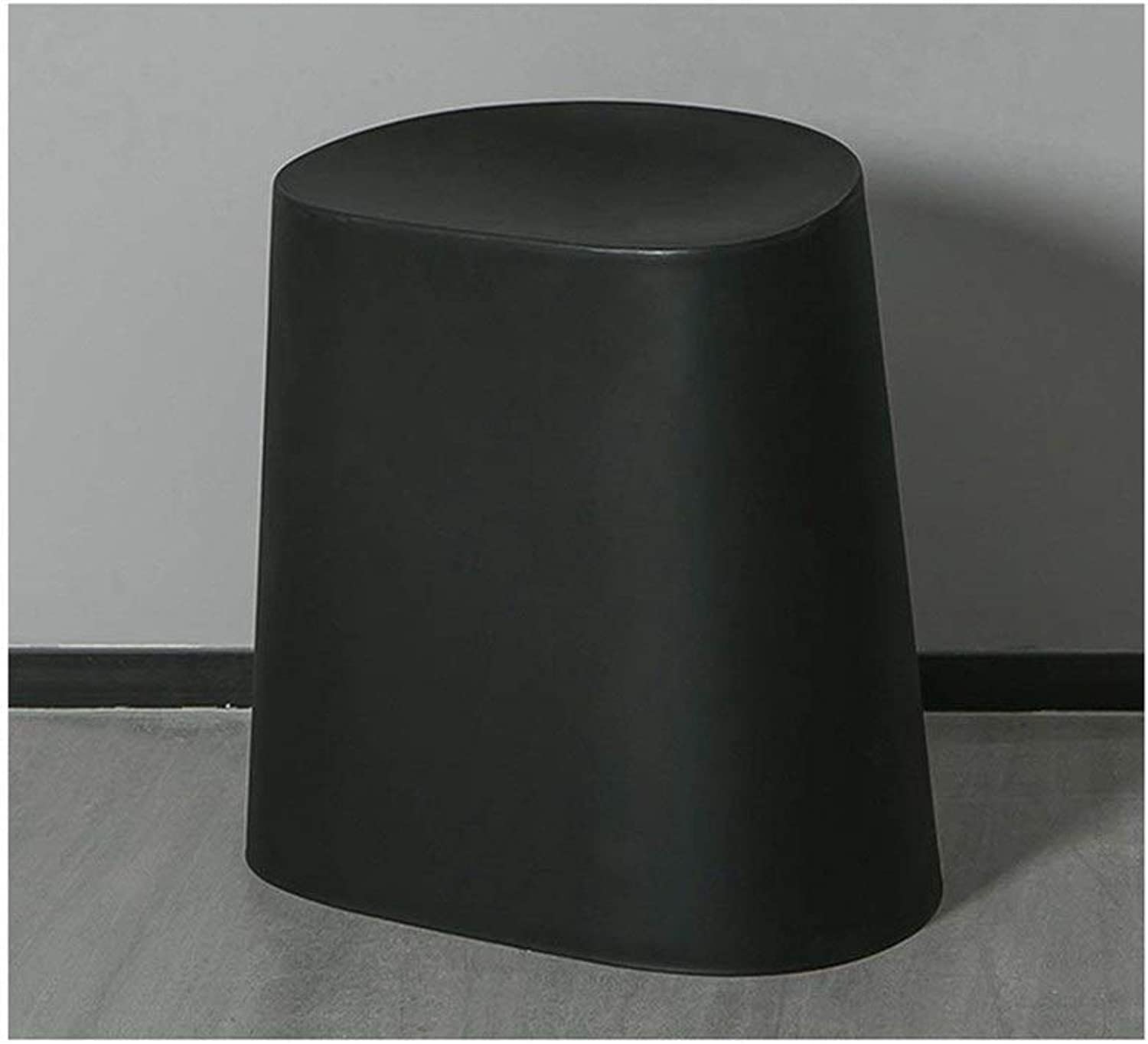 Nordic Minimalist Creative Stool shoes Bench Can Be Stacked Small Stools FENPING (color   Black)
