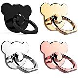 SEGMOI(TM) 4Pack Universal All Metal Material Smartphone Ring Grip Stand Holder Car Mounts Cradle for iPhone 5 5s 6 6S 6Plus iPad Samsung HTC Nokia Huawei OnePlus Cellphone Tablet