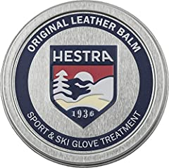 RECOMENDED FOR: Hestra Leather Balm is recommended for using on Hestra sport gloves with goatskin or cowhide leather. Leather Balm will increase the longevity of your gloves by improving the suppleness and water repellant properties of your leather g...