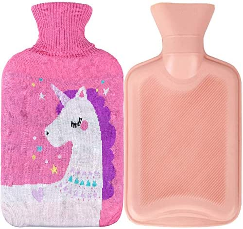 Premium Rubber Hot Water Bottle for Pain Relief Hot and Cold Therapy 2L Pink product image