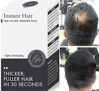 Instant Hair Loss Treatment for Men & Women - 100%, Building Keratin Fibers Cover Thinning and Balding Spots - Make Hair Thicker (Black) (5 week supply)