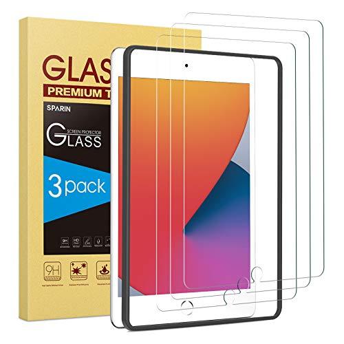 SPARIN 3 Stück Schutzfolie Kompatibel mit iPad 10,2 (iPad 8./7. Generation) /iPad Air 3 10.5 zoll/iPad pro 10.5 zoll, Displayschutzfolie, Montagerahmen