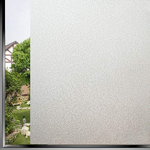 TopJiä® melkglas raamfolie zonder lijm, zelfklevend privacy folie, statische hechting anti-uv decoratie glasfolie, voor thuis badkamer kantoor 80x200cm(31.5x78.7inch) melkglas