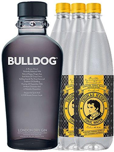 Bulldog London Gin 1,0 Liter + 3 Thomas Henry 1,0 Tonic