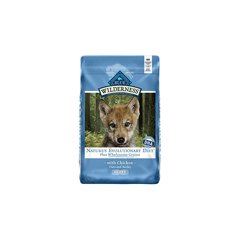 dog supplies online blue buffalo wilderness high protein natural puppy dry dog food plus wholesome grains chicken 11-lb