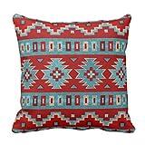 Emvency Throw Pillow Cover Red Santa Southwest Mesas Western Decorative Pillow Case Home Decor Square 16 x 16 Inch Pillowcase