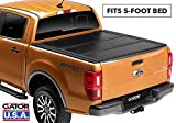 Gator EFX Hard Tri-Fold Truck Bed Tonneau Cover | GC44014 | Fits 2016 - 2020 Toyota Tacoma w/cargo management system 5' Bed | Made in the USA