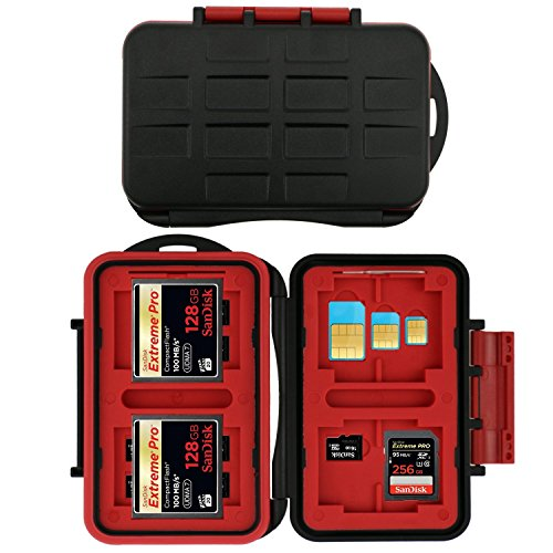 SHOPEE 26 Slots Memory Card Case - Shockproof & Water-Resistant Memory Card...