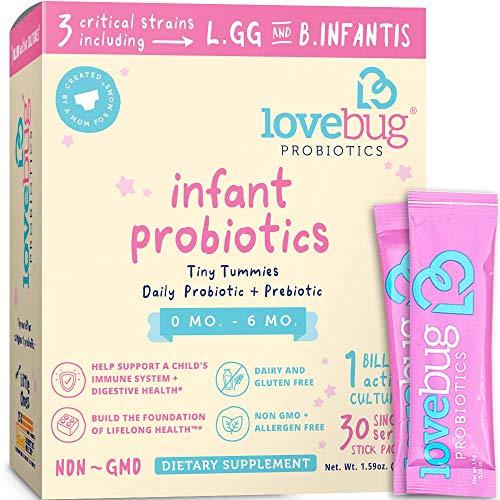 LoveBug Probiotics for Infants 0-6 Months