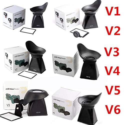 DishyKooker - Parasol con Lupa para Visor LCD V1 / V2 / V3 / V4 / V5 / V6 para Canon 600D 60D 550D 5D Mark III NI/KON D90