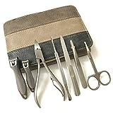 YUXI8541NO Juego de cortaúñas de manicura 7 en 1 de acero inoxidable Set de manicura profesional de herramientas de pedicura, cortador de uñas con bolsa (color gris)