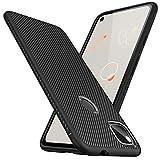 Kapa Twill Shock Proof Soft Flexible Back Case Cover for Google Pixel 4A (Black)