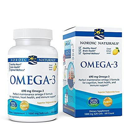 Nordic Naturals Omega-3 Soft Gels - Omega-3 Essential Fatty Acids Aid in Cognition, Heart Health, and Immune Support, Lemon Flavor