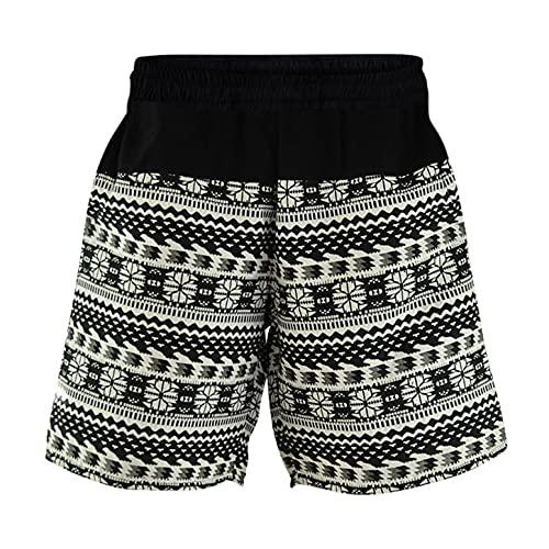 virblatt - Kurze Haremshose Herren | Baumwolle | Aladinhose Herren Kurz Sommerhose Herren Kurze Hose Bermuda Shorts Hippie - Quintessenz L-XL schwarz