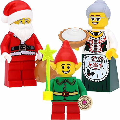 LEGO Set di 3 statuine natalizie (Babbo Natale, Babbo Natale, Mrs. Claus e Babbo Natale) e accessori