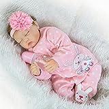 Scnbom 22pulgadas 55cm muñecas Reborn niñas Silicona Bebes Reales Baby Dolls Girls Realista Toddler ...