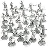 1' Hex Townsfolk Mini Fantasy Figures Set- 32...