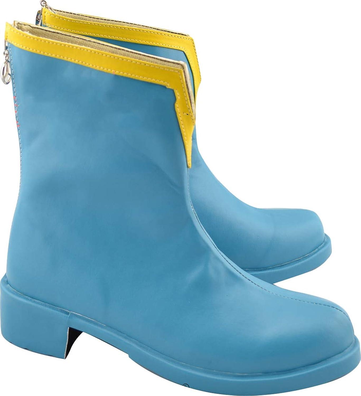 GSFDHDJS Cosplay Boots shoes for Puella Magi Madoka Magica Miki Sayaka bluee