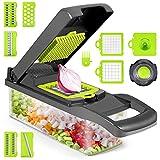 Vegetable Chopper, Onion Chopper, 12 in 1 Veggie Chopper, Vegetable Slicer Dicer, Cutter, Grater,...
