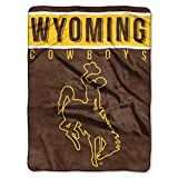 The Northwest Company Officially Licensed NCAA Wyoming Cowboys Basic Plush Raschel Throw Blanket, 60' x 80', Multi Color
