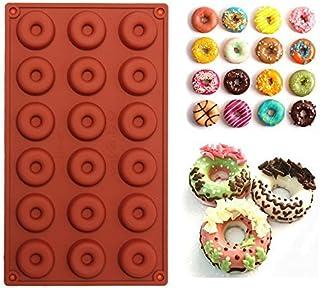 Sungpunet 18-Cavity Donut Doughnut Baking Mold Cake Chocolate Candy Soap Silicone Mould