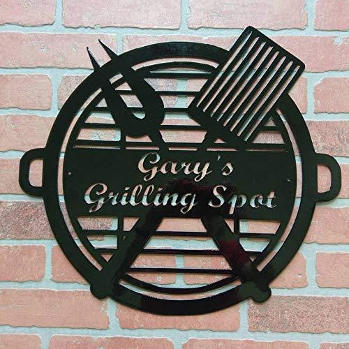 Meg121ace Weerbestendige Custom Barbeque Cook Out Grill Monogram House Sign, Monogrammed, Man Cave, voordeur muur krans, naambord, metalen letters
