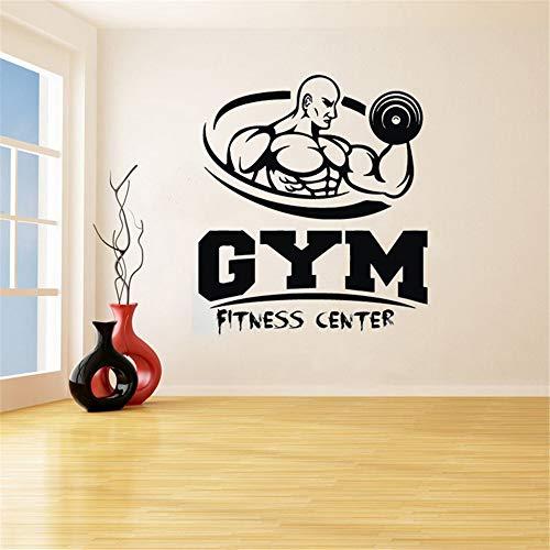 pegatinas de pared espejo GYM Fitness Man Decal Fitness Center Sala de estar Dormitorio para gimnasio