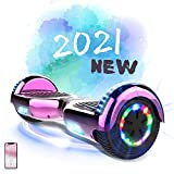 MARKBOARD Patinete Eléctrico Hoverboard, Hover 6.5 Pulgadas Board Leds, Potente batería de Litio, Bluetooth, Self...