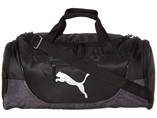 PUMA mens Contender Duffel Bags, Heather Grey, One Size US