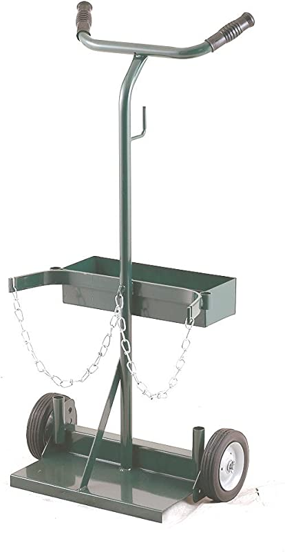 Harper Trucks 140 71 Deluxe Welding Cylinder Hand Truck 39 Inch High X 19 Inch Wide With 6 X 1 5 Solid Rubber Wheels