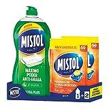 Mistol Pack Combo Ahorro - Mistol Ultraplus 950ml + 100 Pastillas Lavavajillas. Limpia, desengrasa, desincrusta y abrillanta, tu vajilla como nueva.