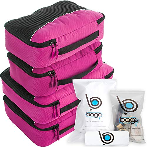Bago 4 Set Packing Cubes for Travel - Luggage &...