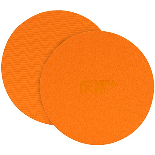 Mirafit Set of 2 Yoga Support Pads - Remove Discomfort on Knees/Elbows/Head During Workouts