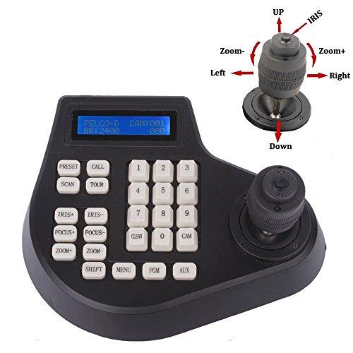 Best Discount - Controller per tastiera a joystick a circuito chiuso con display LCD 4D CCTV per controllo telecamera di sicurezza PTZ