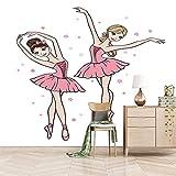 ZEISIX murales papel pintado para cocinas posters para pared/Dibujos animados bailes chicas amor/Aplicar para salones niños niñas juvenil habitacion bebe guardería dormitorio matrimonio cabeceros