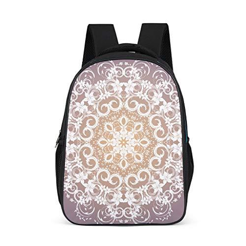 BTJC88 Backpacks Cute Lightweight Satchel - Pattern Design Daypack Unisex for International Travel Use,Hold 15.4-inch Computer Notebook Grey OneSize