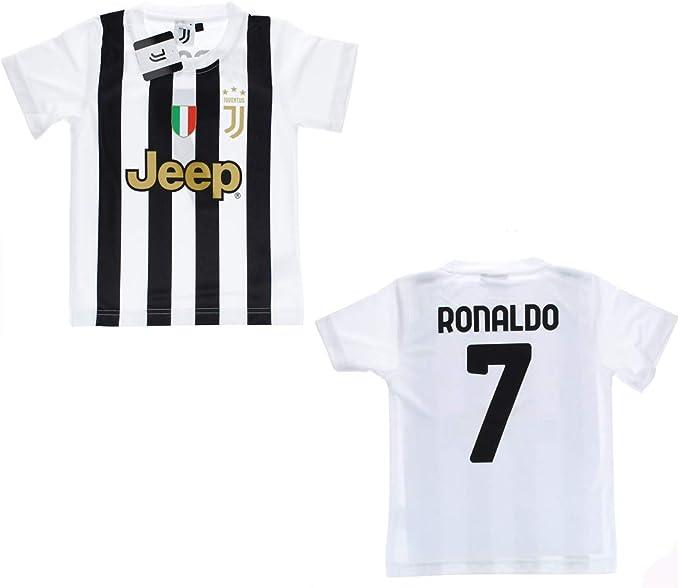 JUVE Juventus Maglia Tifoso Home Stagione 2020/2021 - Numero 7 Ronaldo CR7 - Bambino - Codice Autenticità - Scudetto Sempre Compreso - Scegli la ...