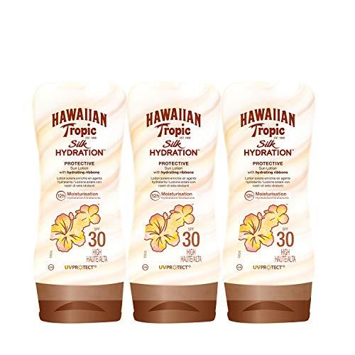 Hawaiian Tropic Silk Hydration Sun Lotion Air Soft Face Sonnencreme LSF 30, 50 ml, 3 St