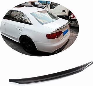 MCARCAR KIT Trunk Spoiler fits Audi A4 B9 Standard Sedan 2013-2016 Factory Outlet Carbon Fiber CF Rear Boot Lid Highkick Wing Lip(Not for Sline & S4)