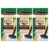 Teeccino Chicory Coffee Alternative – Organic French Roast – Herbal Coffee | Ground Coffee Substitute | Prebiotic | Caffeine Free | Acid Free, 11 Ounce (Pack of 3)