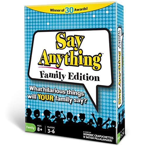 North Star Games Say Anything Board Game | Family Edition | Card Game with Fun Get to Know Questions