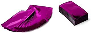200x Premium Purple (Rose) Mylar Foil Open Top Bags (6cm x 9cm) (2.4 x 3.6 inches) Perfect for Sample Giveaway, Smell Proof