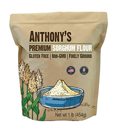 Anthony's Premium Sorghum Flour, 1 Pound, Gluten Free, Non GMO, Finely Ground