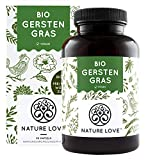 NATURE LOVE® Bio Gerstengras - Hochdosiert mit 1500mg je Tagesdosis - 180 Kapseln - Laborgeprüft und zertifiziert Bio, in Deutschland...