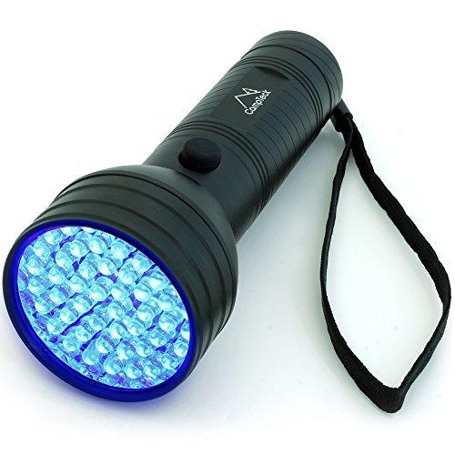 CampTeck U6679 51 LED Linterna UV 395nm Ultravioleta Antorcha Luz Negra Detector de Orina, Gato, Perro, Manchas en la Ropa, Alfombras.
