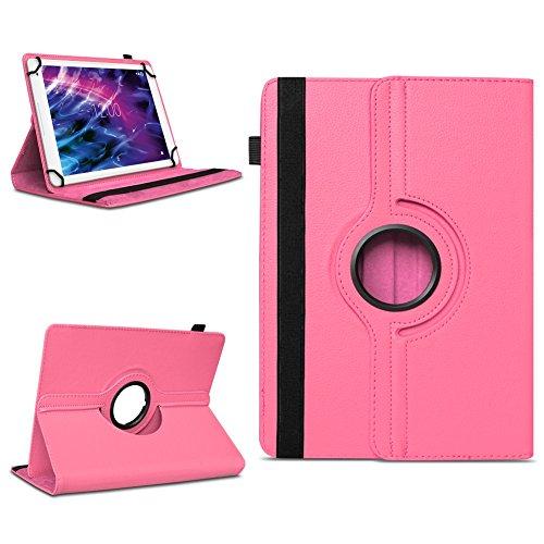 Tablet Schutzhülle für Medion Lifetab P10606 P10602 X10605 X10607 X10311 P9702 X10302 P10400 P10506 P10505 aus Kunstleder Hülle Tasche Standfunktion 360° Drehbar Cover Case Universal , Farben:Pink