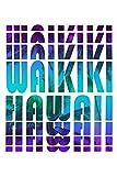 Waikiki Hawaii Notebook: Beautiful Waikiki Hawaii Notebook with 120 chequered pages in Trim size 15,24 x 22,86 cm (6' x 9')